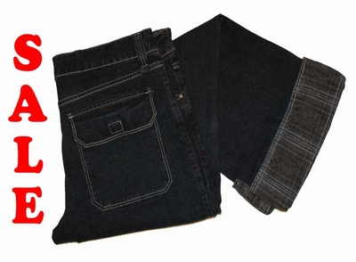 "Double face stretch jeans  "" Zwart / grijs """