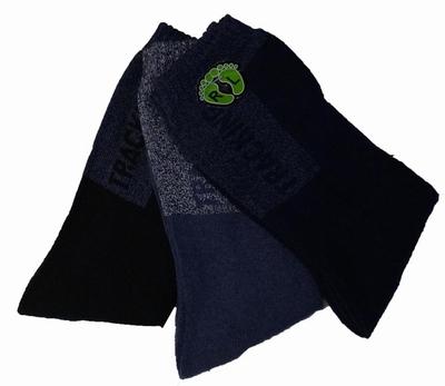 """Tracking sokken  """"  Blauw / zwart """"   3 paar"""