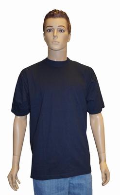 """Grote maten T-shirt met korte mouwen  """" Donker blauw """""""