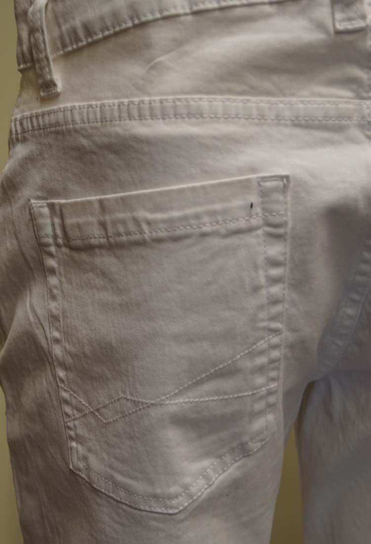 """Brams Paris stretch jeans  """" Hugo """"  Wit"""