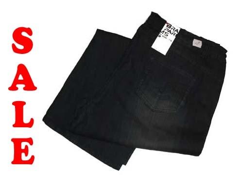"Brams Paris stretch jeans  "" Zwart / grijs """