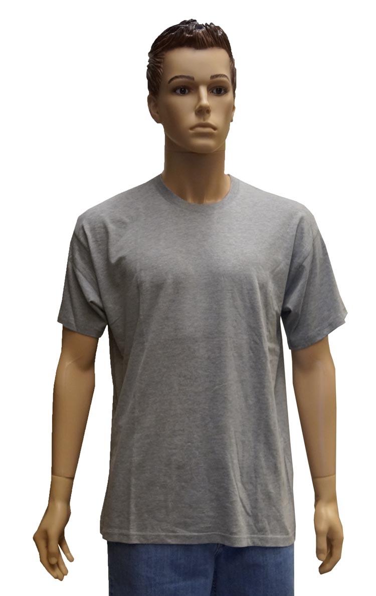 """Grote maten T-shirt met korte mouwen  """" Licht grijs """""""