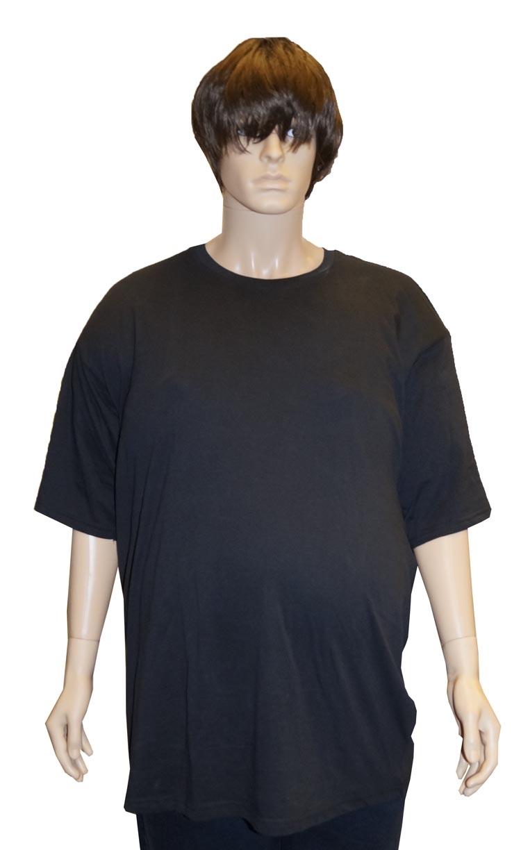 """Grote maten T-shirt met korte mouwen  """" Zwart """""""