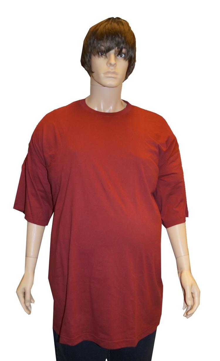 """Grote maten T-shirt met korte mouwen """" Rood """""""