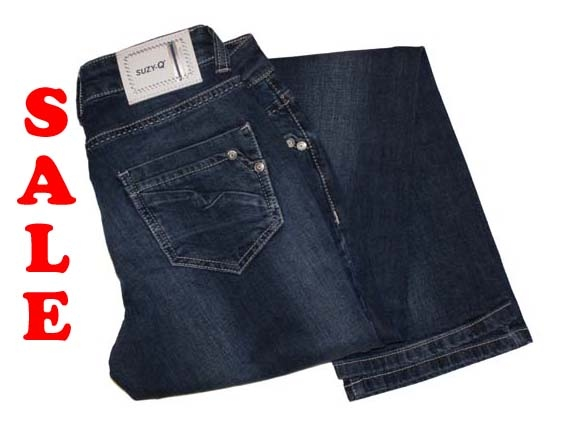 """Suzy Q stretch jeans  """" Linette """"  Dark used"""