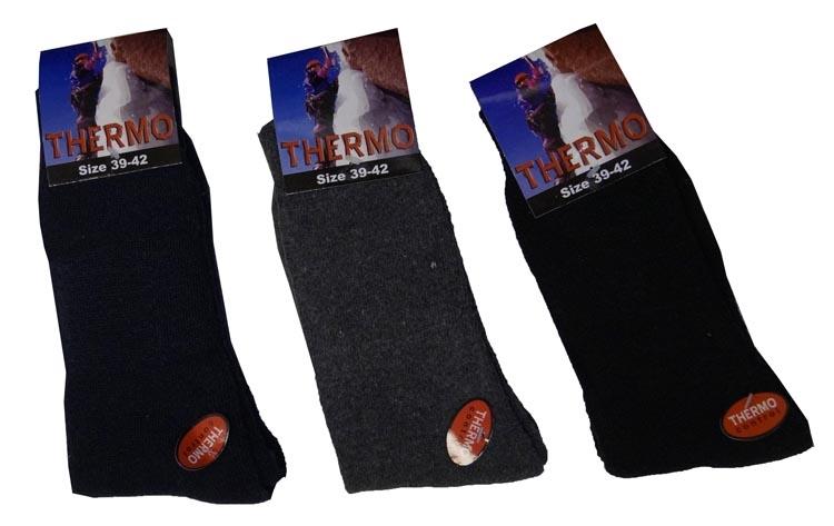 """Thermo sokken  """" Zwart / grijs / blauw """"  3 paar"""