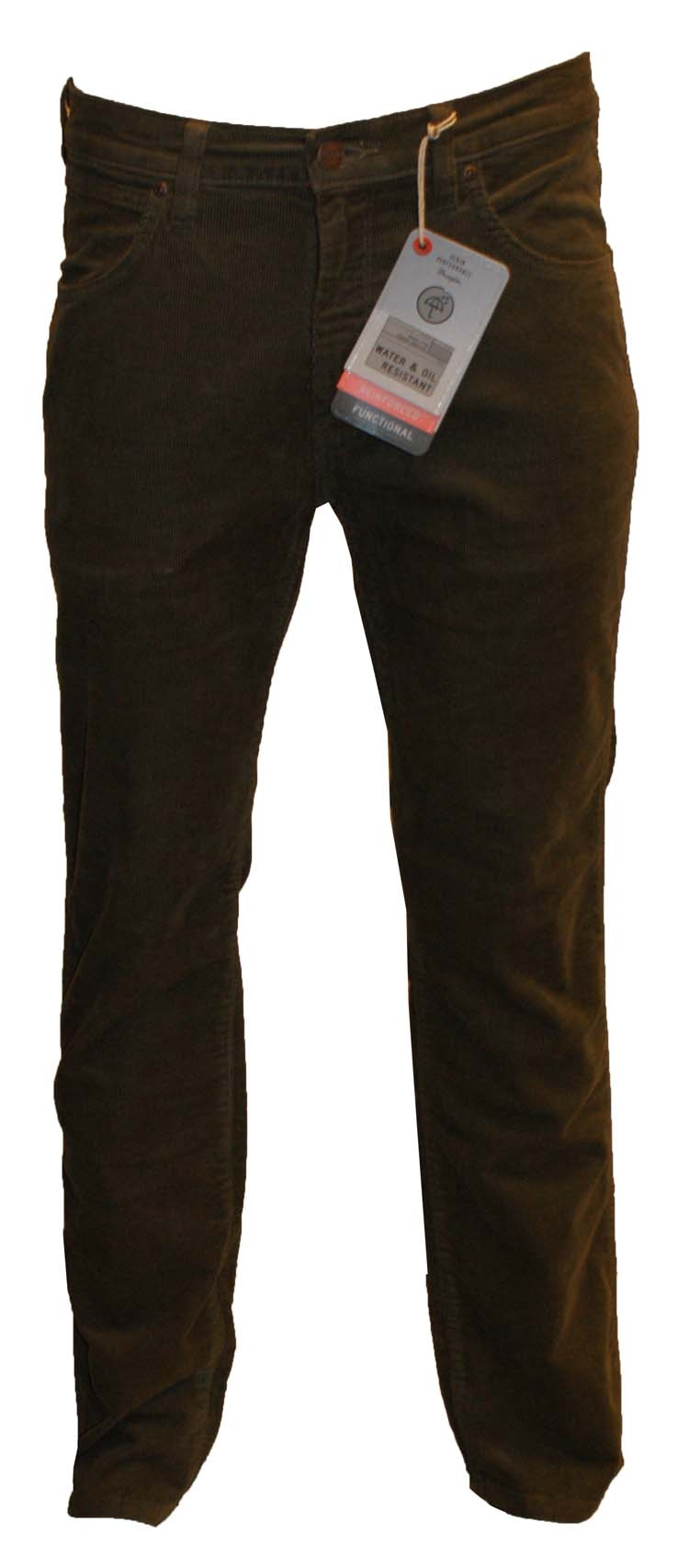 "Wrangler stretch jeans  "" Arizona ""  Corduroy  Groen / grijs"