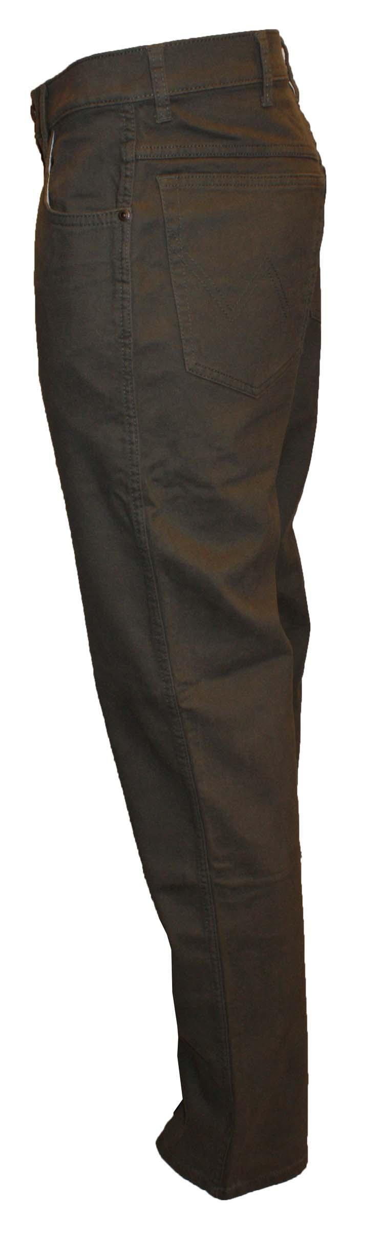 """Wrangler stretch jeans  """" Texas """"  Donker groen / bruin"""