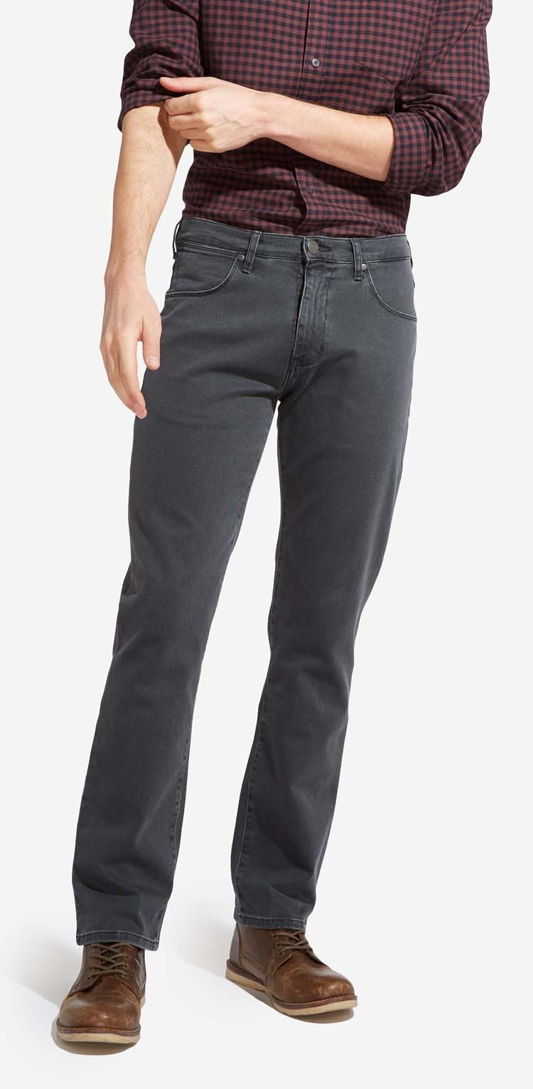 """Wrangler stretch jeans  """" Texas """"  grijs"""